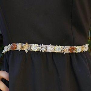 ann taylor   flower beaded bejeweled belt